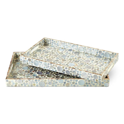 Tozai Home Dots Mother of Pearl Inlay Rectangular Tray