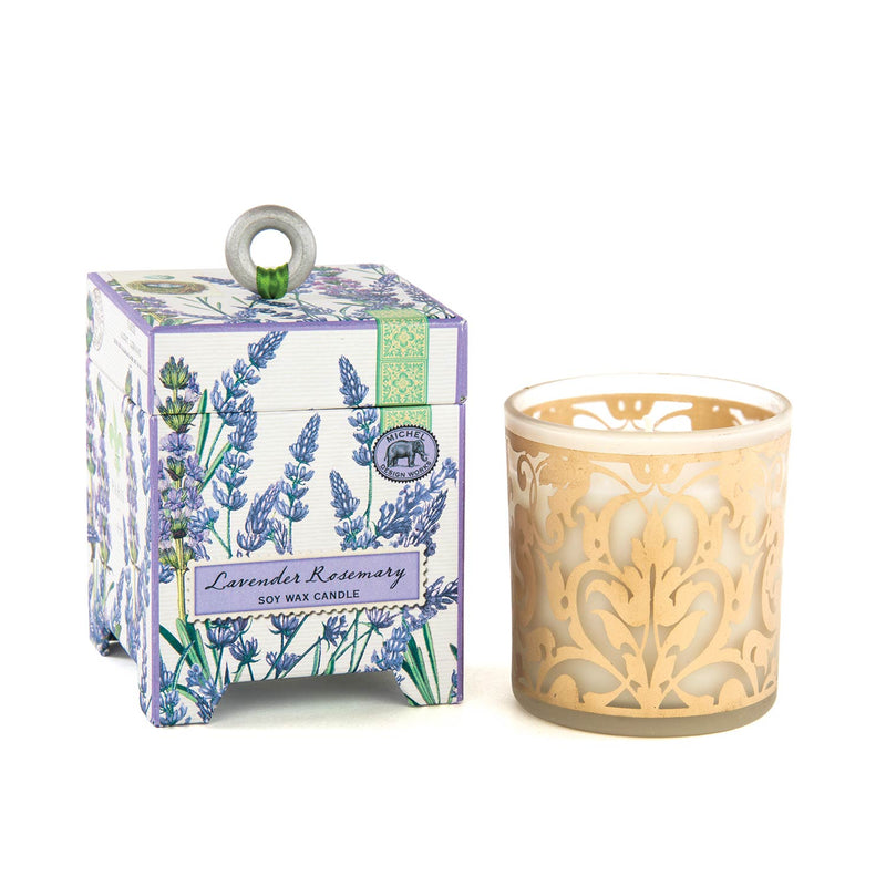 Michel Design Lavender & Rosemary Soy Wax Candle 6.5oz Putti Fine Furnishings Canada