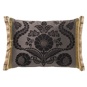 Designers Guild Roquelaire Noir Throw Pillow-Pillow-DG-Designers Guild-Noir-Putti Fine Furnishings