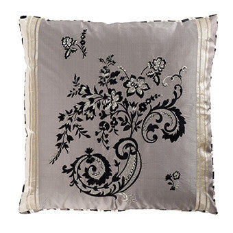 Designers Guild Emmiline Charcoal Throw Pillow-Pillow-DG-Designers Guild-Charcoal-Putti Fine Furnishings