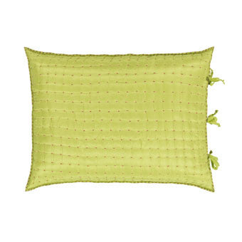 "Designers Guild Quilt Chenevard Fuchia & Lime-Soft Furnishings-DG-Designers Guild-Queen Sham 20"" x 30"" ( 50 x 70cm ) - Special order-Putti Fine Furnishings"