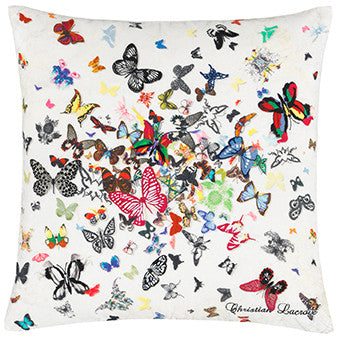 "Designers Guild ""Butterfly Parade Opalin"" Cushion by Christian Lacroix-Pillow-DG-Designers Guild-Opalin-Putti Fine Furnishings"