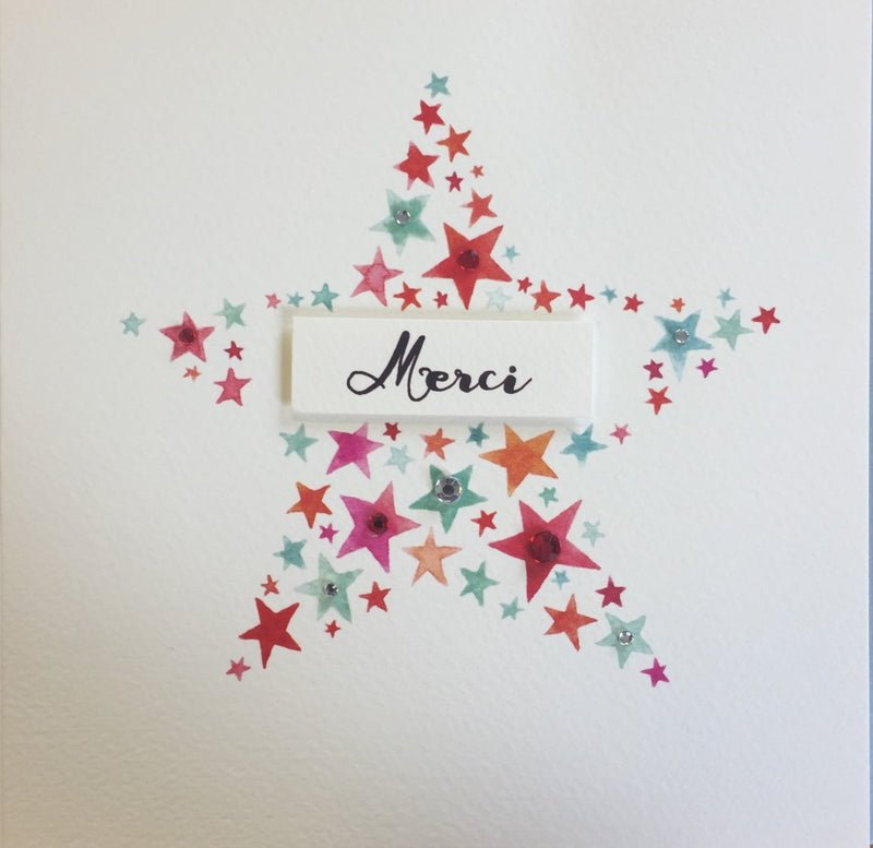 Merci Star Greeting Card