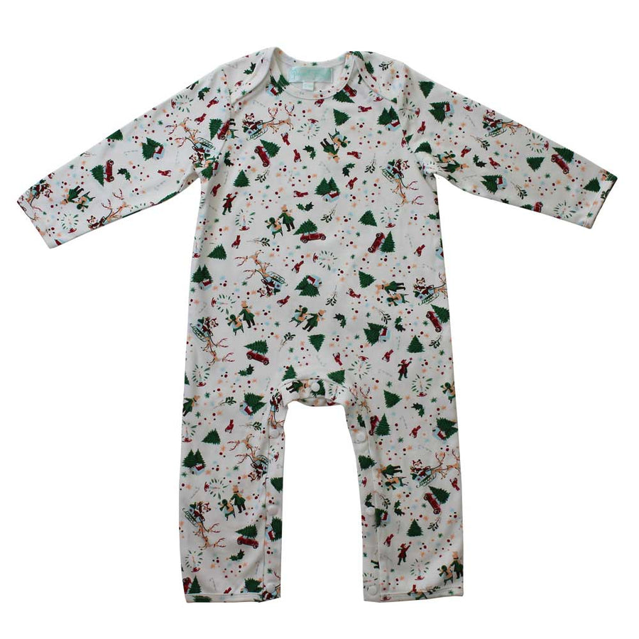 Powell Craft UK Christmas Print Jumpsuit | Le Petite Putti