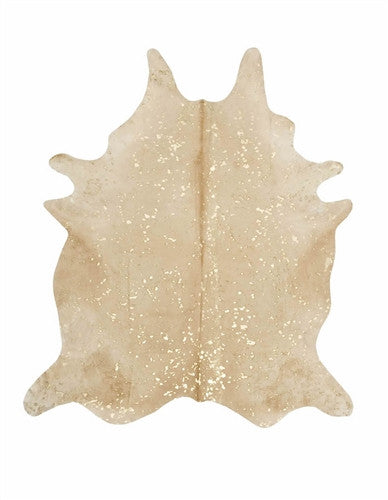 Beige & Gold Cowhide Carpet-Cowhide Carpet-Putti Fine Furnishings-Putti Fine Furnishings