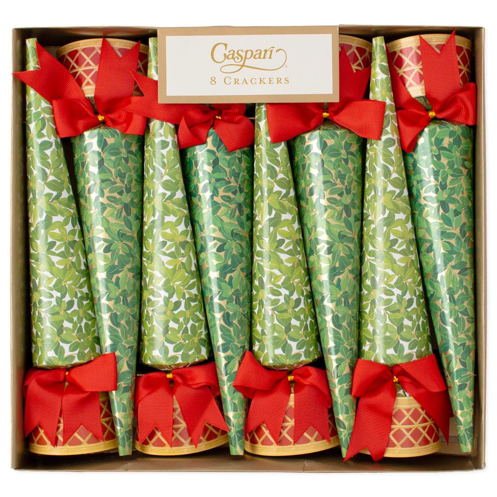 Caspari Boxwood Topiary Cone Shaped Christmas Crackers | Putti Canada