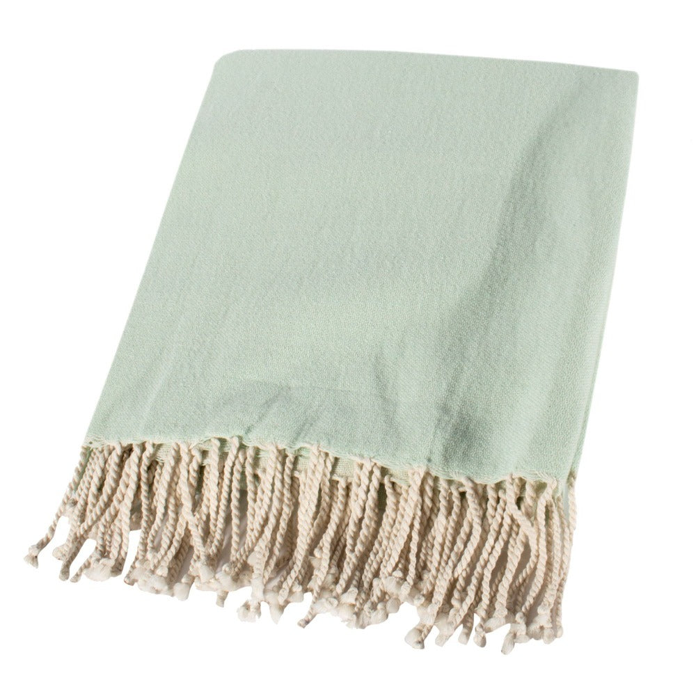 Mint Cotton Throw-Accessories-CF-Canfloyd-Putti Fine Furnishings