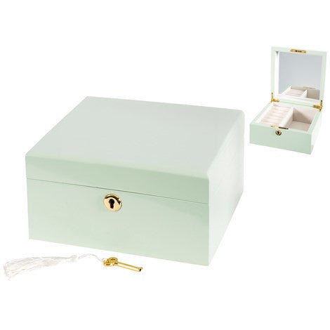 Green Lacquer Jewelry Box - Large