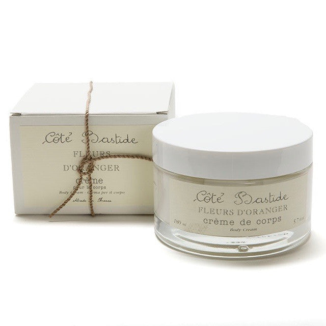 Cote Bastide Body Cream in Glass Jar - Orange Blossom