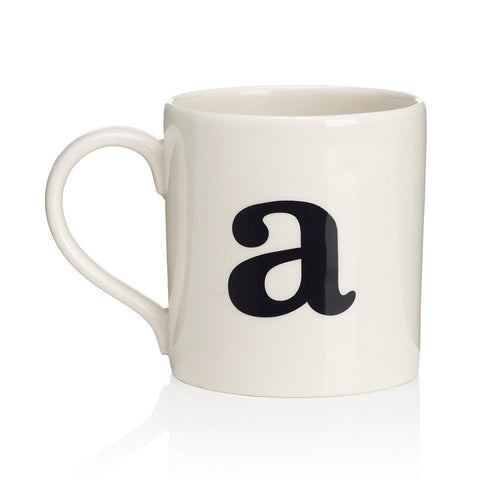 Alphabet Mug - A-Tableware-JLB-J L Bradshaws-Putti Fine Furnishings