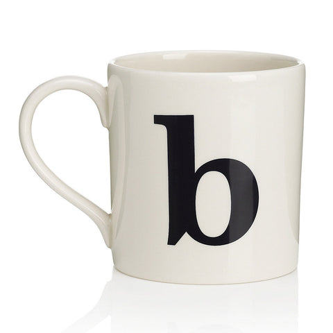 Alphabet Mug - B-Tableware-JLB-J L Bradshaws-Putti Fine Furnishings