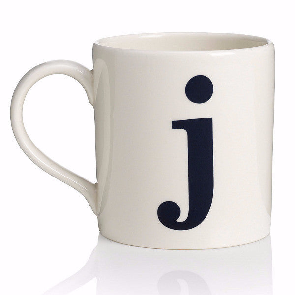 Alphabet Mug - J, JLB-J L Bradshaws, Putti Fine Furnishings