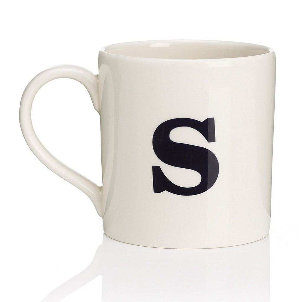 Alphabet Mug - S-Tableware-JLB-J L Bradshaws-Putti Fine Furnishings