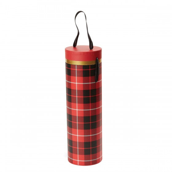 Plaid Wine Tube
