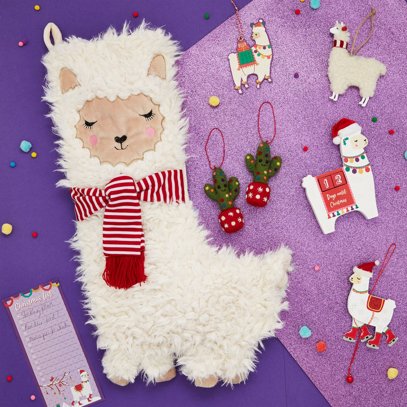 Fa La La Llama Christmas Stocking  | Putti Christmas Canada