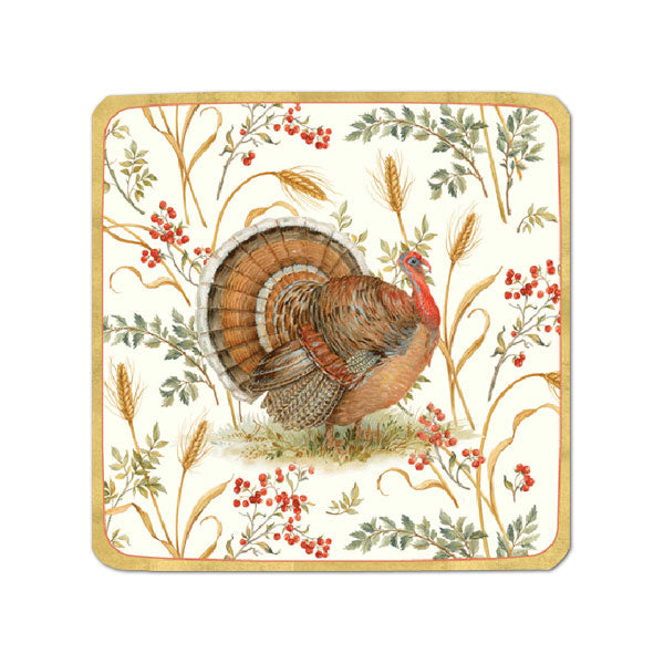 """Golden Harvest"" Paper Plate - Small, CI-Caspari, Putti Fine Furnishings"