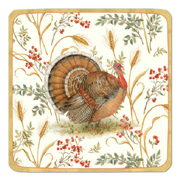 """Golden Harvest"" Paper Plate - Large, CI-Caspari, Putti Fine Furnishings"