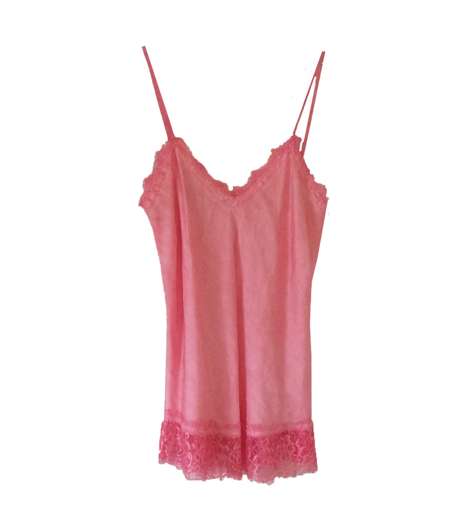 Hand Dyed Camisole with Lace - Coral, TO-Terminal One, Putti Fine Furnishings