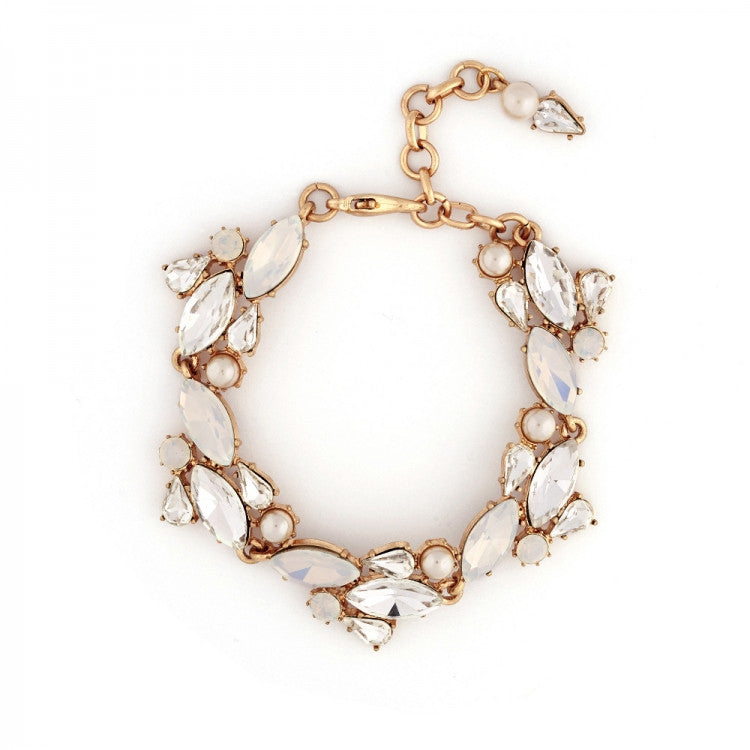 Lovett & Co. Crystal Cluster Bracelet - White Opal