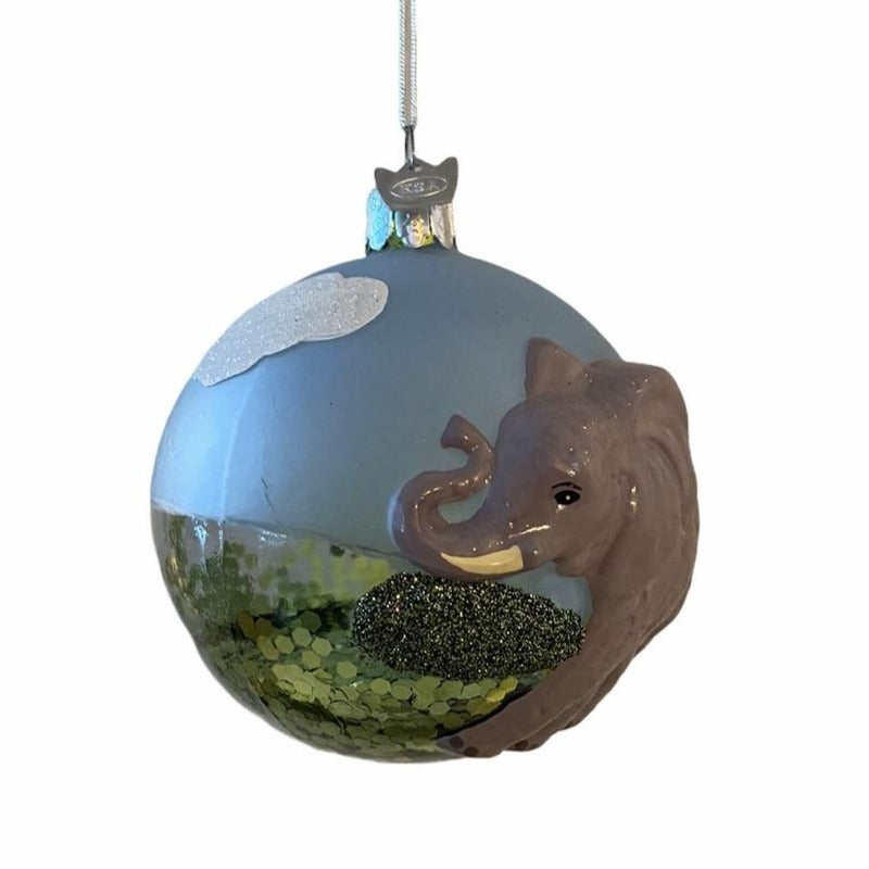 Kurt Adler Elephant Ball Glass Ornament | Putti Christmas Canada