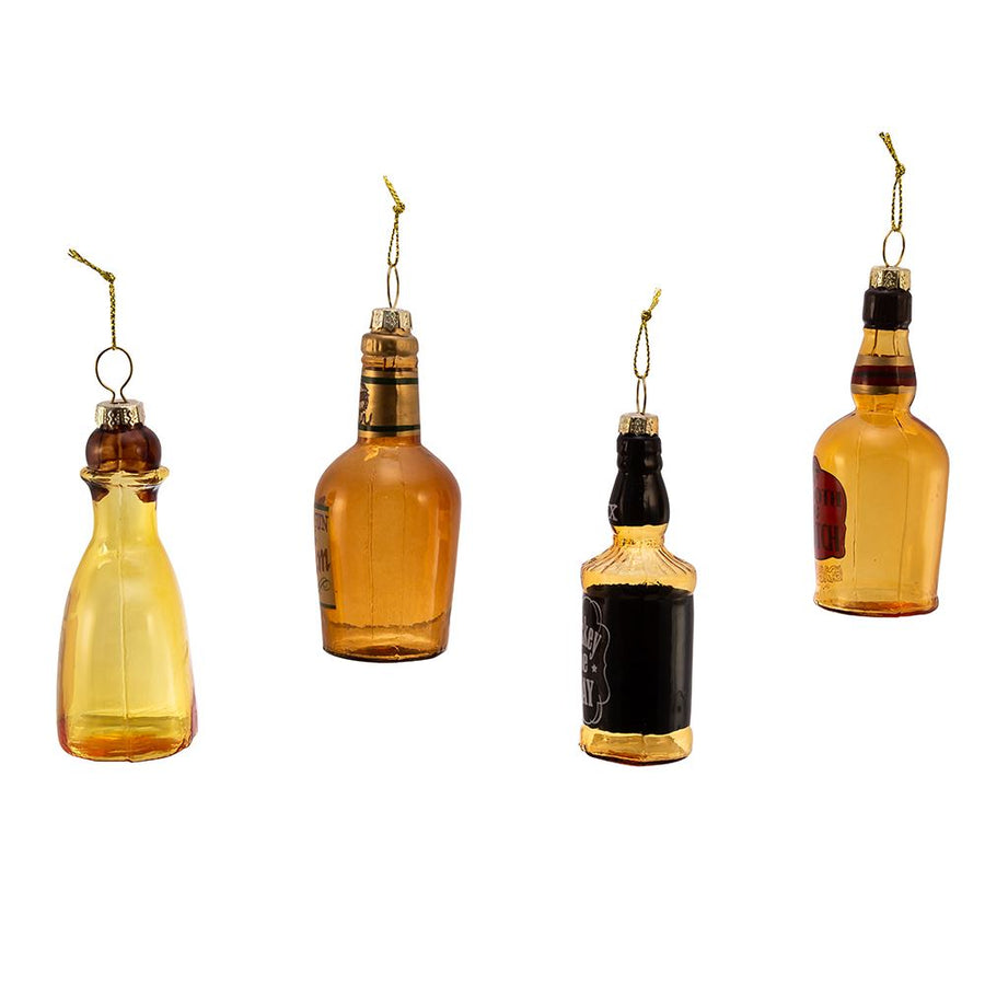 Kurt Adler Glass Liquor Bottle Ornament