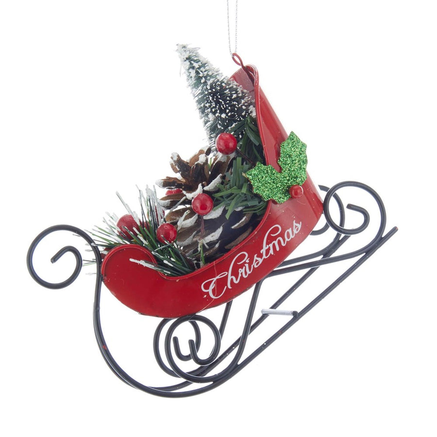 Kurt Adler Merry Christmas Sled Ornament