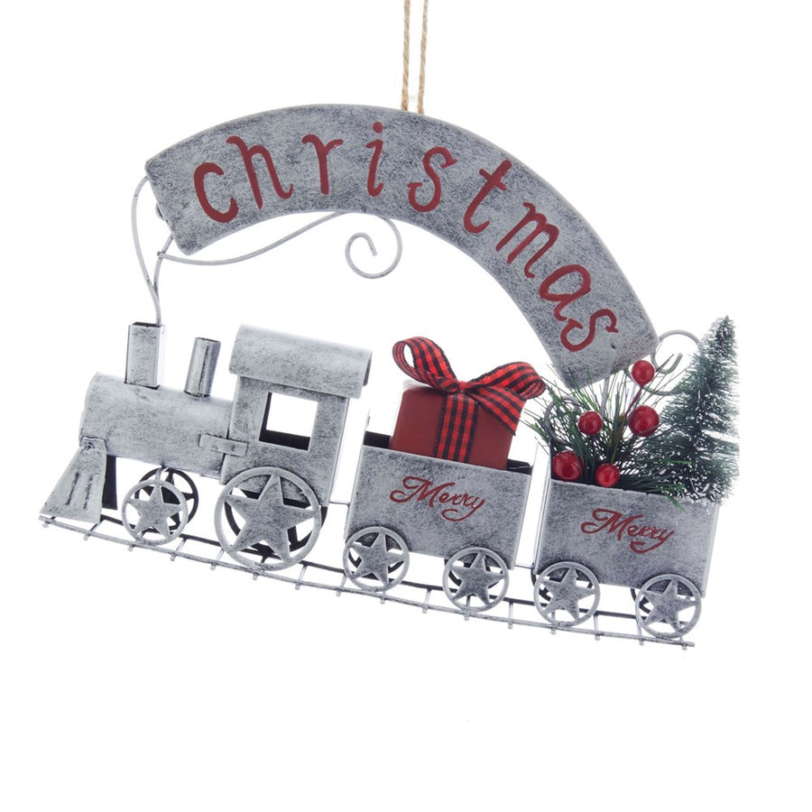 Kurt Adler Metal Christmas Train Ornament