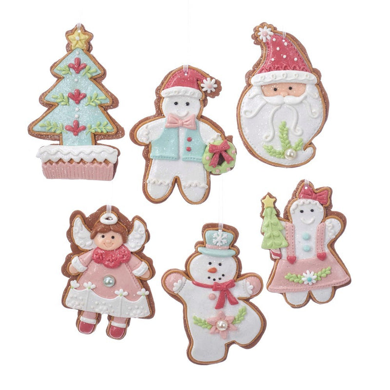 Pastel Gingerbread Cookie Ornaments