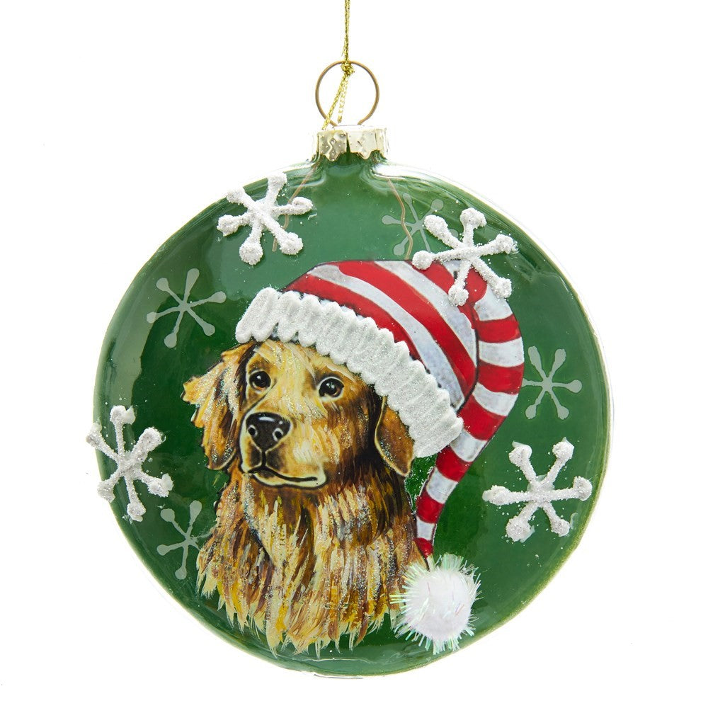 Kurt Adler Golden Retriever Disc Ornament