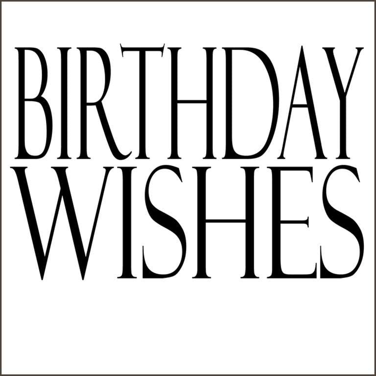 """Birthday Wishes"" Greeting Card"
