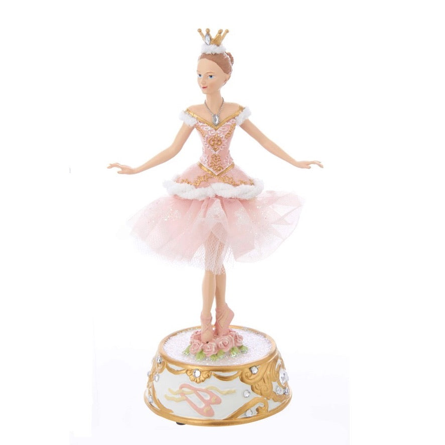 Kurt Adler Ballerina Figurine with Musical Base | Putti Christmas