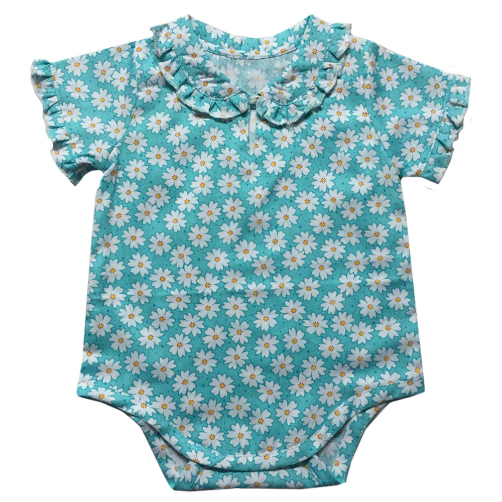 "Daisy"" Print Baby Grow-Children's Clothing-PC-Powell Craft Uk-0-6 months-Putti Fine Furnishings"