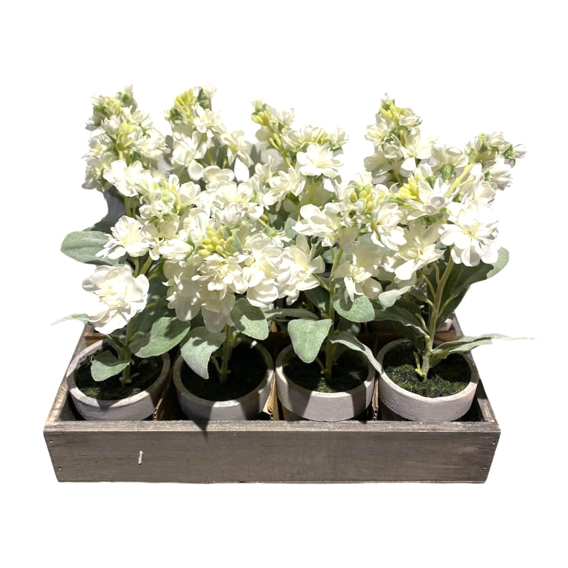 Artificial White Stocks in Pot