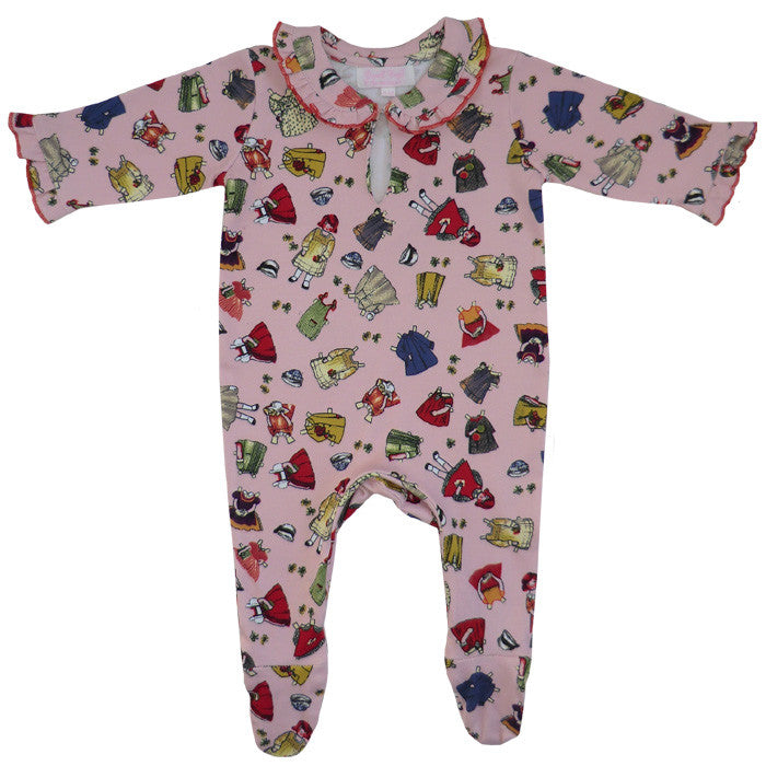 Retro Dolly Jumpsuit - 0-6 months Children's Clothing - Powell Craft Uk - Putti Fine Furnishings Toronto Canada
