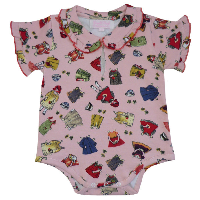 Retro Dolly  Baby Grow - 0-6 months Children's Clothing - Powell Craft Uk - Putti Fine Furnishings Toronto Canada
