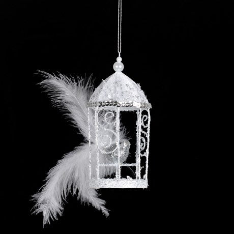 Silver Birdcage Ornament, CH-Coach House, Putti Fine Furnishings