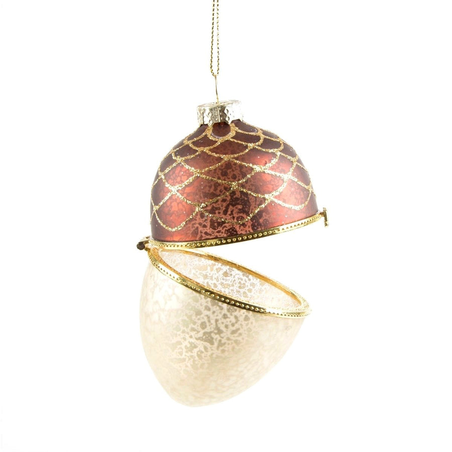 Acorn Trinket Box Glass Ornament