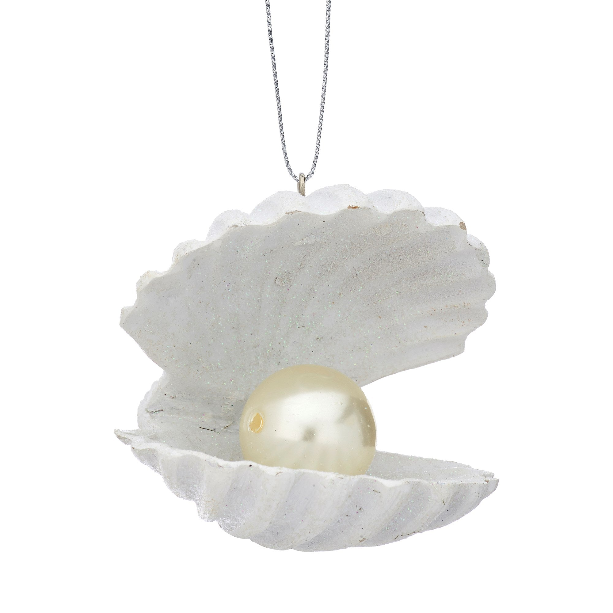Pearl Clam Shell Ornament | Putti Christmas Decorations Canada