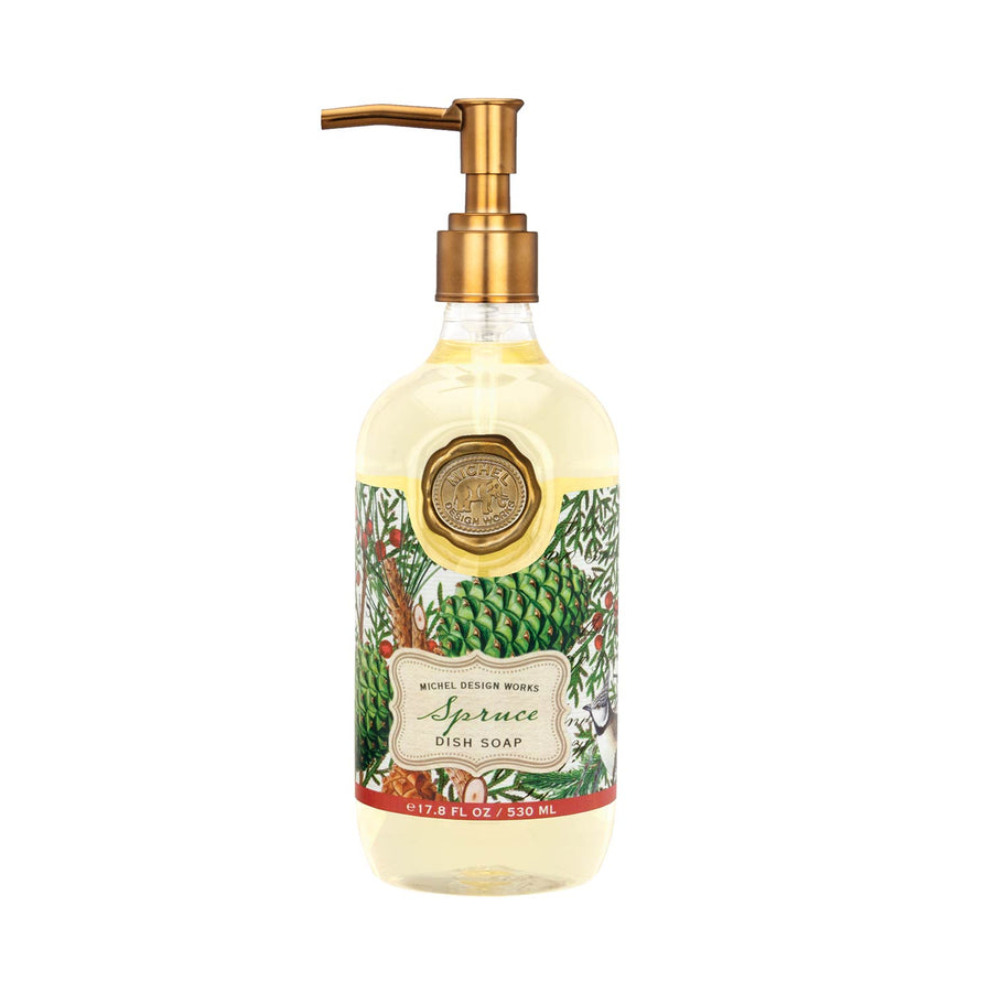 Michel Design Spruce Dish Soap Dishwashing - Putti Fine Furnishings Canada