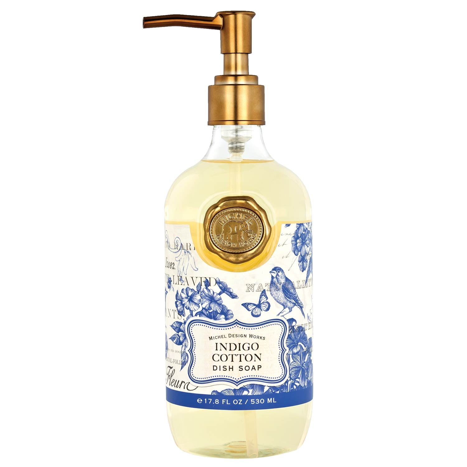 Michel Design Works Indigo Cotton Dish Soap - Putti Fine Furnishings Canada