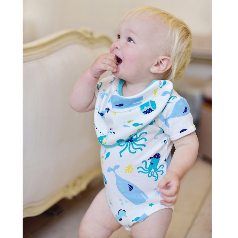 Deep Sea Print Baby Grow