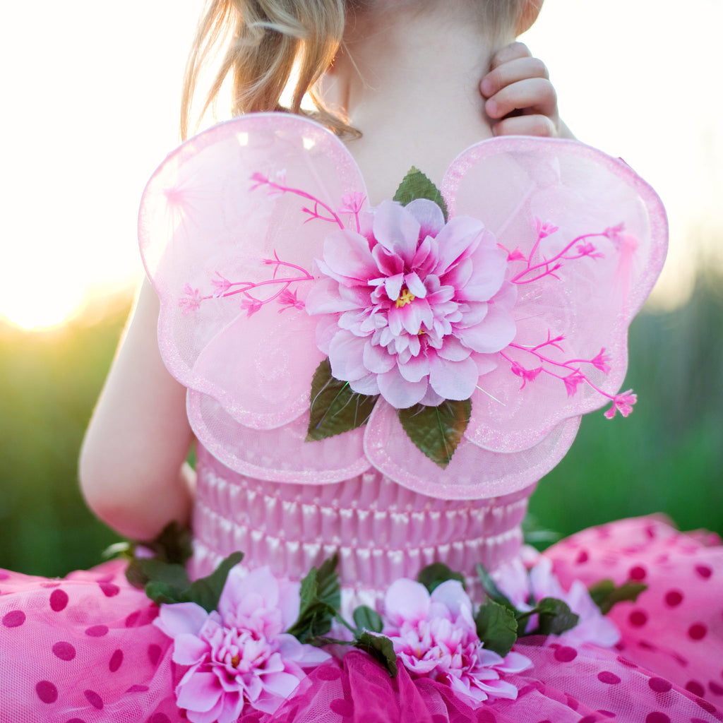 Fairy Blooms Dress Pink with Wings & Headband-Dress Up Costumes-Creative Education-Small-Putti Fine Furnishings