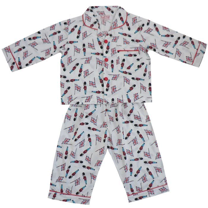 """Monty"" Soldier Pajamas-Nightwear-PC-Powell Craft Uk-Age 1-2 (Special Order 2 weeks)-Putti Fine Furnishings"