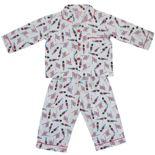 """Monty"" Soldier Pyjamas-Nightwear-PC-Powell Craft Uk-Age 1-2 (Special Order 2 weeks)-Putti Fine Furnishings"