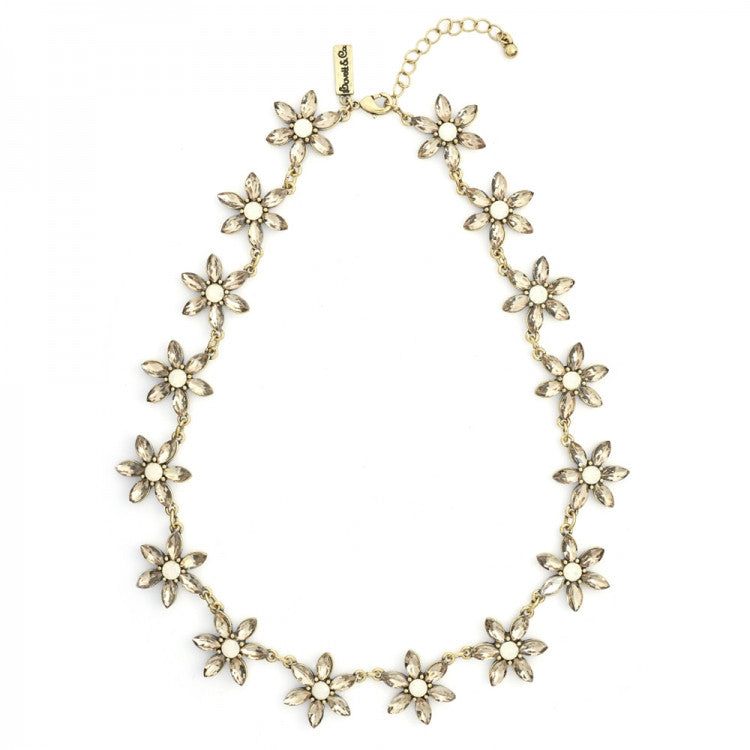Lovett & Co. Daisy Flower Necklace - White Opal, L&C-Lovett & Co., Putti Fine Furnishings