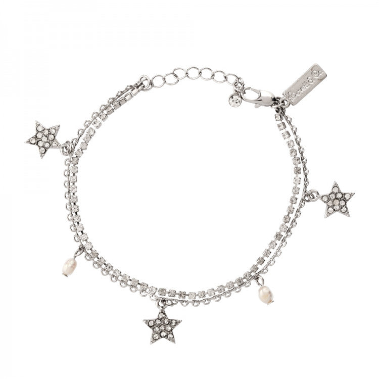 Lovett & Co. Diamante Star Bracelet - Rhodium