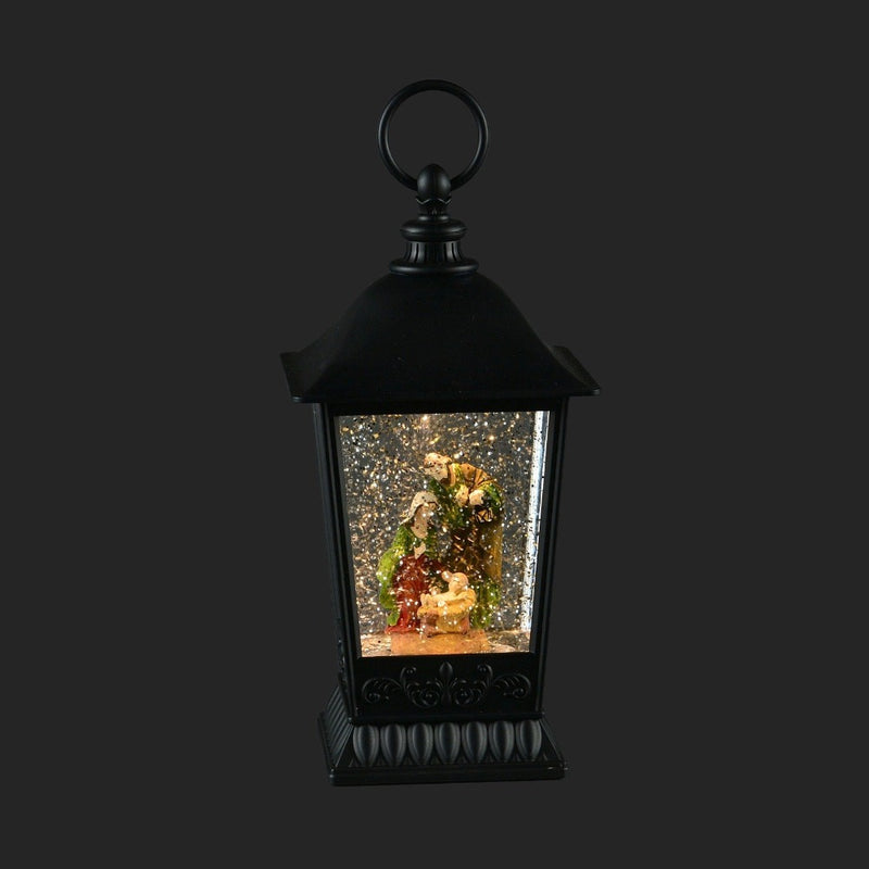 Nativity Lantern with Perpetual Snow LED