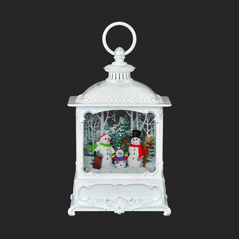 Small Snowman Lantern with Perpetual Snow LED | Putti Christmas