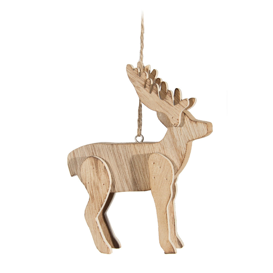 Wooden Deer Ornament