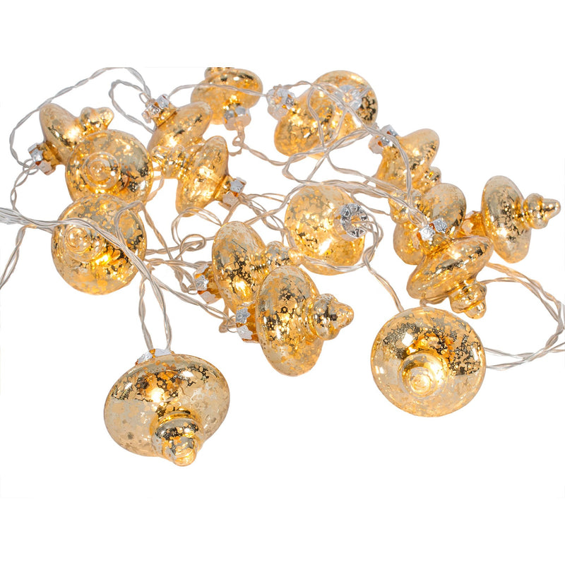 Gold Glass Lantern LED String Lights-Christmas-CF-Canfloyd-Putti Fine Furnishings